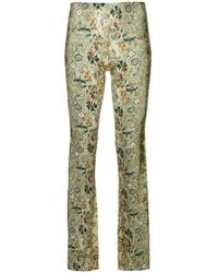 floral print flared trousers - Green Black Coral INfcvX6E