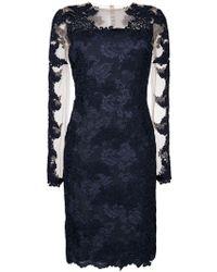 Olvi ́S - Lace-embroidered Midi Dress - Lyst