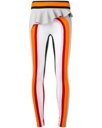 NO KA 'OI - Kihi Ruffled Waist Sports Leggings - Lyst