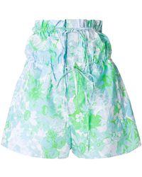 Ports 1961 - Floral Print Shorts - Lyst
