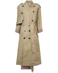 TOME - Oversized Asymmetric Trench Coat - Lyst