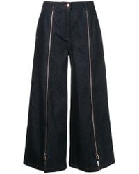 OSMAN - Zipped Cropped Jeans - Lyst