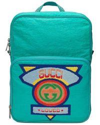 Gucci - Mittelgroßer Rucksack mit Patch im 80er-Stil - Lyst