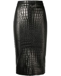 75084db5a6a7 Tom Ford - Textured Pencil Skirt - Lyst