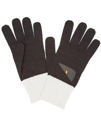 Fendi - Bicolor Appliqué Gloves - Lyst