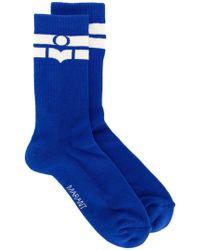 Isabel Marant - Logo Stripe Socks - Lyst
