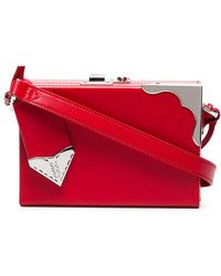 CALVIN KLEIN 205W39NYC - Red Mini Leather Box Clutch - Lyst