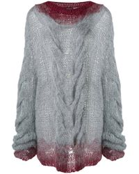 Ann Demeulemeester - Chunky Cable Knit Sweater - Lyst