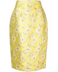 Prada Floral Patterned Skirt