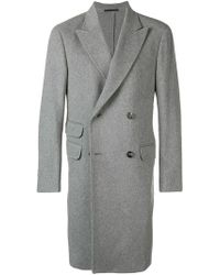 Z Zegna - Double Breasted Coat - Lyst