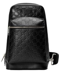 a00b66284baf Gucci Signature Leather Backpack in Red for Men - Lyst