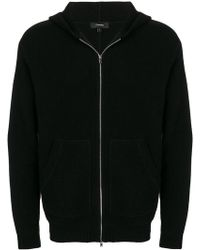 Theory - Zip Hooded Cardigan - Lyst