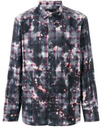 John Varvatos - Printed Plaid Shirt - Lyst
