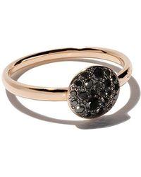 Pomellato - 18kt Rose Gold Sabbia Black Diamond Ring - Lyst