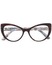 Dolce & Gabbana - Tortoiseshell-effect Cat-eye Glasses - Lyst
