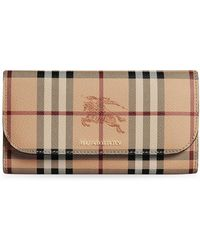 Burberry - Haymarket Check Slim Continental Wallet - Lyst