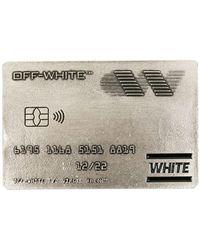 Off-White c/o Virgil Abloh - Metallic Credit Card Motif Cardholder - Lyst