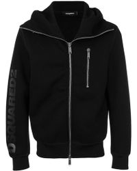 DSquared² - Logo Zipped Hoodie - Lyst