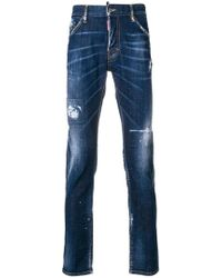 DSquared² - Distressed Slim Jeans - Lyst