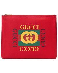 Gucci - Папка Для Документов С Логотипом - Lyst