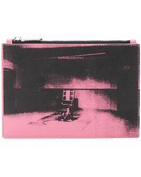 CALVIN KLEIN 205W39NYC - X Andy Warhol Foundation Little Electric Chair Clutch Bag - Lyst