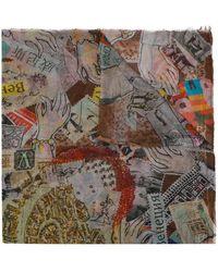 Faliero Sarti - Schal mit Postkarten-Print - Lyst