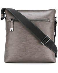 BOSS - Embossed Messenger Bag - Lyst