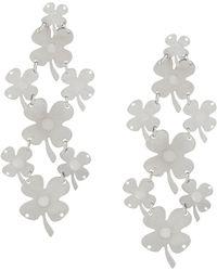 Paco Rabanne - Drop Clover Earrings - Lyst