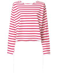 MM6 by Maison Martin Margiela - Striped Long Sleeve T-shirt - Lyst