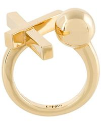 Eshvi - Crossed Ring - Lyst