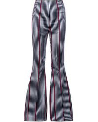 SemSem - Flared Striped Trousers - Lyst