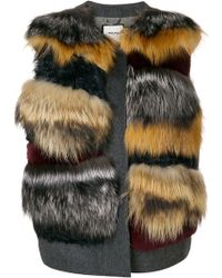Max & Moi - Panel Fur Gilet - Lyst