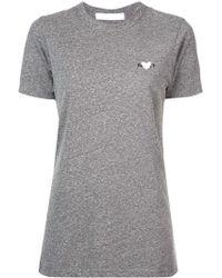 Rodarte - T-Shirt mit Herzstickerei - Lyst