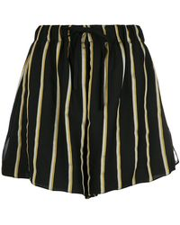 UMA | Raquel Davidowicz - | Striped Wide Shorts - Lyst
