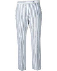 Thom Browne - Bar Stripe Slim-fit Trouser - Lyst