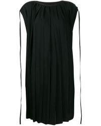 b28f4ae01ef MM6 by Maison Martin Margiela V-neck Belted Dress in Black - Lyst