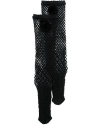 MUVEIL - Fishnet High Ankle Socks - Lyst