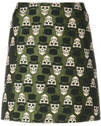 Ultrachic - Skull Embroidered Skirt - Lyst
