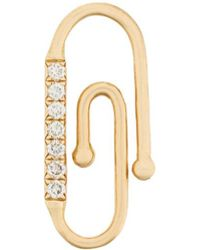 Aurelie Bidermann - 18kt Yellow Gold Diamond Paperclip Accessory - Lyst