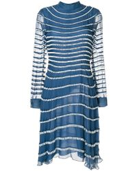 Valentino - Fringed Dress - Lyst