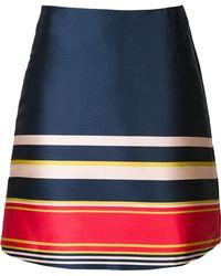 SUNO - Striped A-line Skirt - Lyst