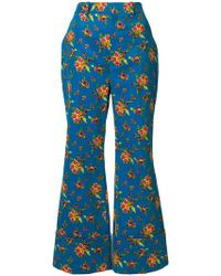 Gucci - Cropped Floral Flares - Lyst