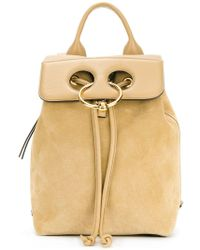 JW Anderson - Pierce Leather Flap Backpack - Lyst