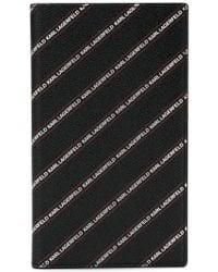 Karl Lagerfeld - Striped Logo Travel Wallet - Lyst