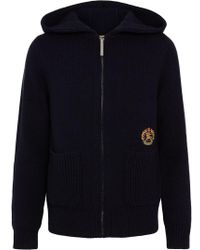 Burberry - Embroidered Archive Logo Cashmere Hooded Top - Lyst