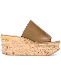 Chloé - Camille Wedge Mules - Lyst