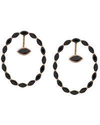 Maha Lozi - 18kt Rose Gold Rolling Stone Earrings - Lyst