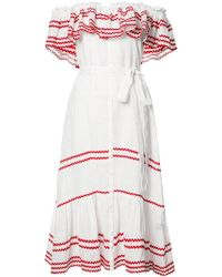 Lisa Marie Fernandez - Ruffled Off-shoulder Dress - Lyst