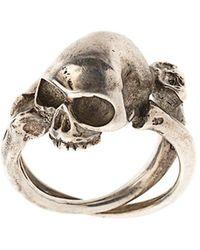 Werkstatt:münchen - Cross Bones + Skull Ring - Lyst