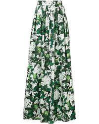 Dolce & Gabbana - White Geranium Printed Maxi Skirt - Lyst